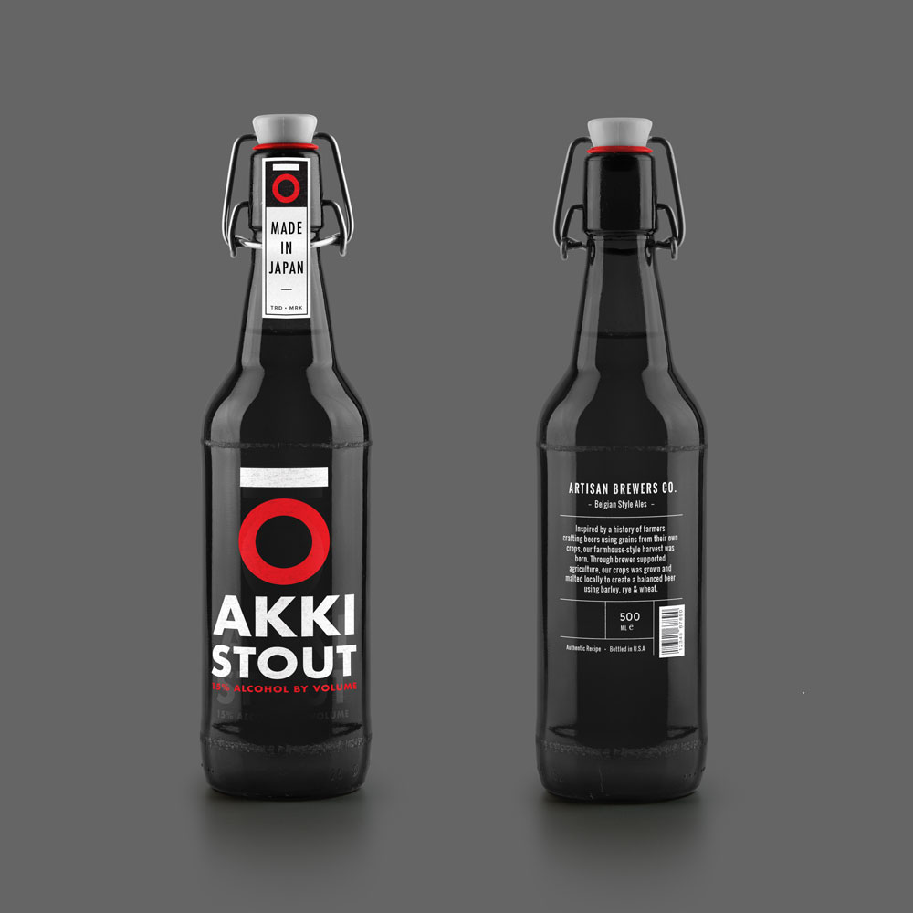 AKKI Beer Bottle MockUp