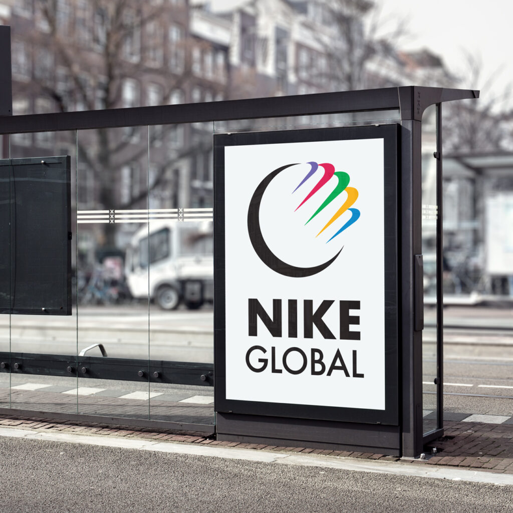 Nike Bus Stop Billboard MockUp 2