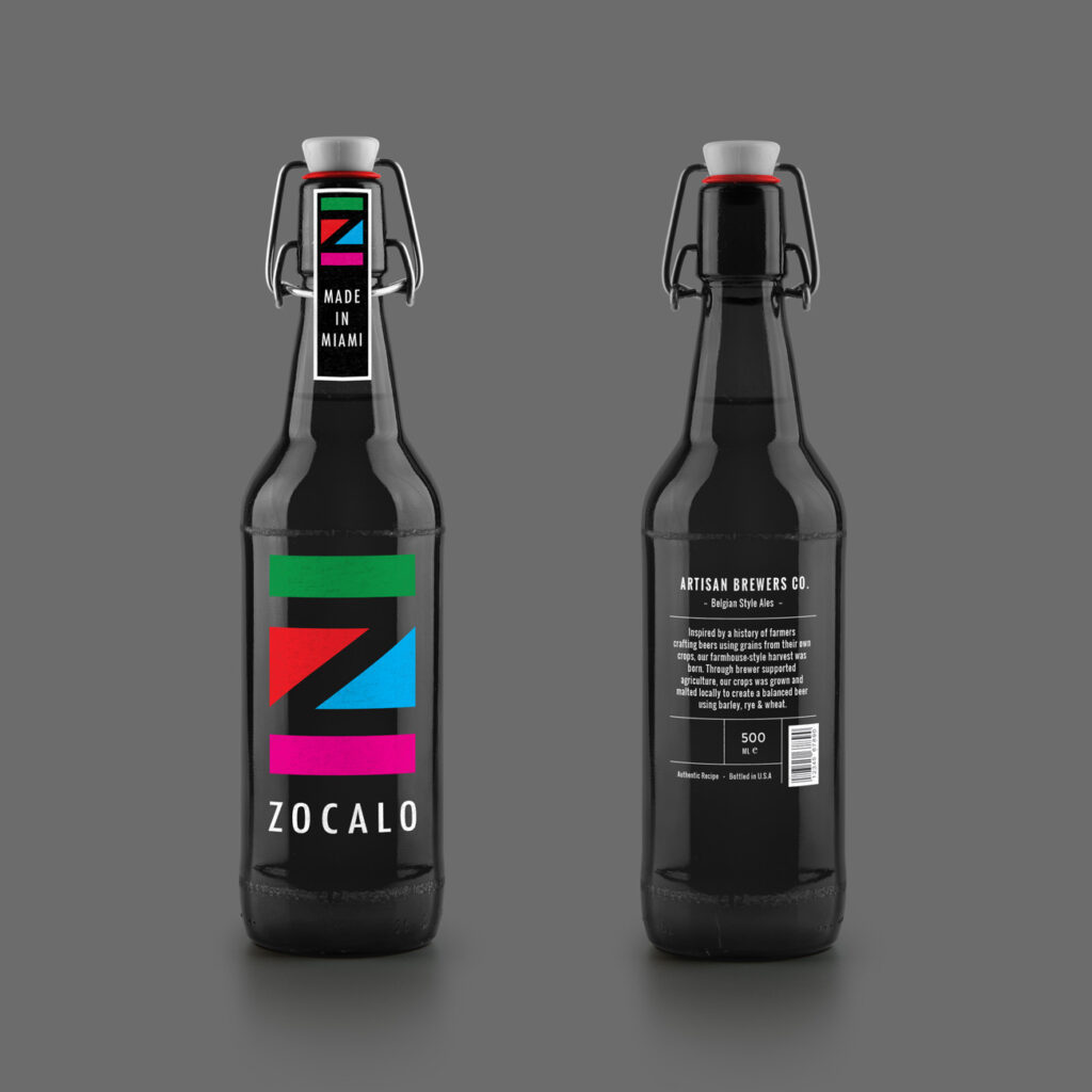 ZOCALO Beer Bottle MockUp