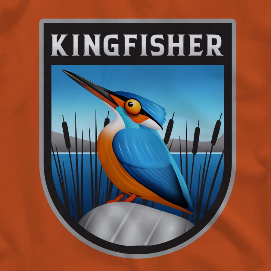 Kingfisher Label Tshirt