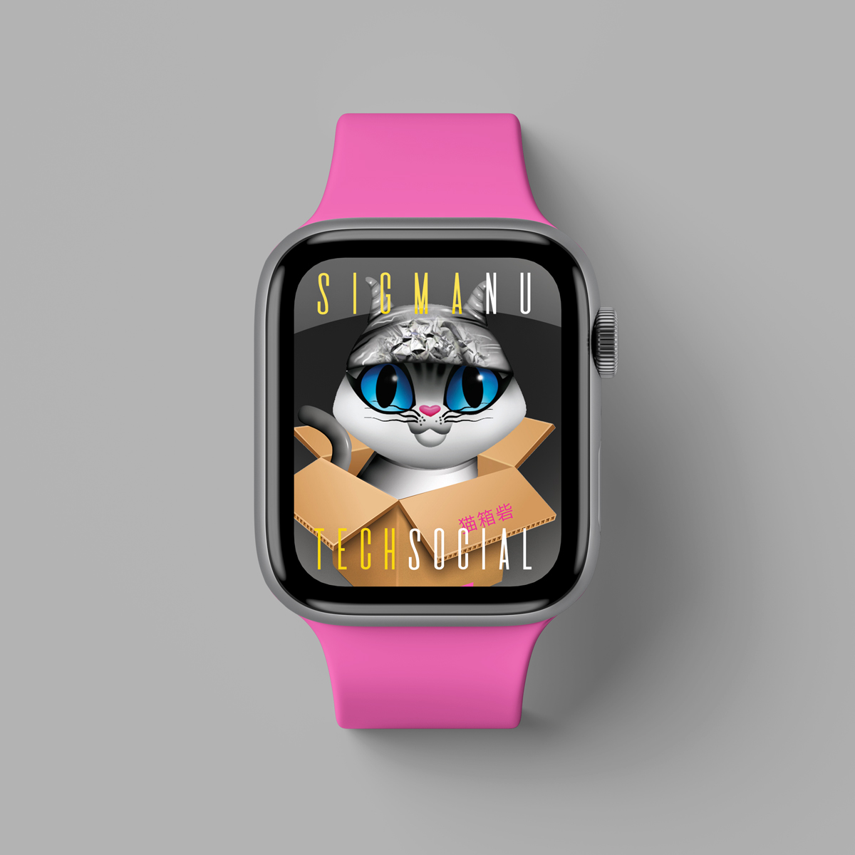 kitty watch mockup