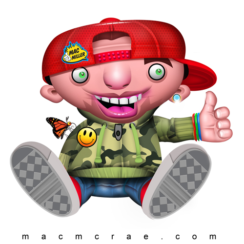 This is an illustration of MacMiller's Most Dope kid Thumbs up