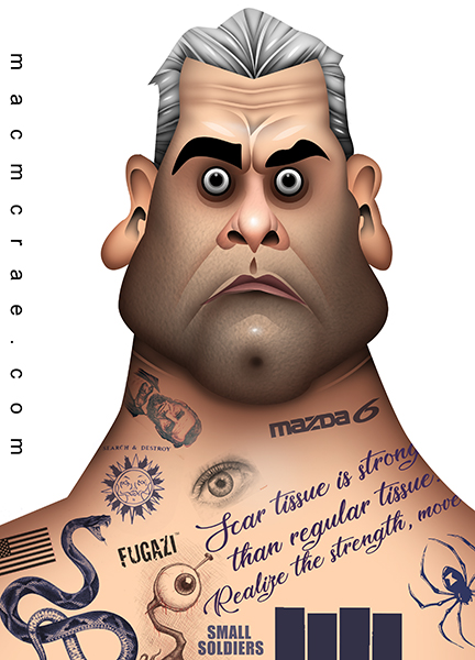 Henry Rollins caricature