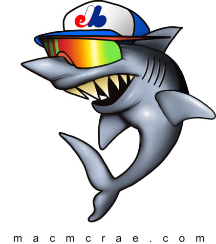 Shark With Sun Glasses puking a rainbow 1
