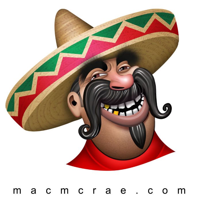 Mexican Man Head With Traditional Sombrero