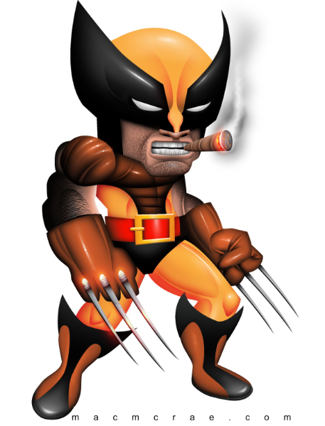 wolverine with a big head