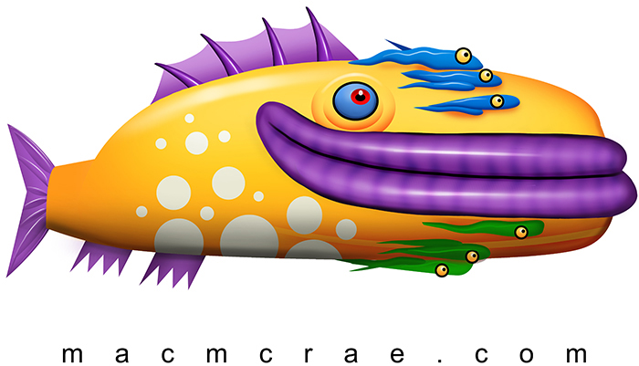 psychedelic yellow fish