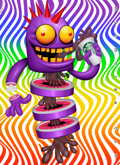 starbux coffee monster dissected